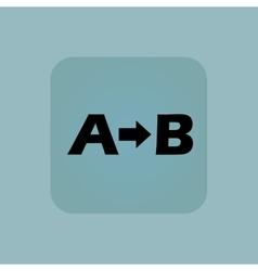 Pale blue a b icon vector