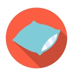 Pillow icon in flat style isolated on white vector