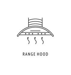 Range hood outline icon vector