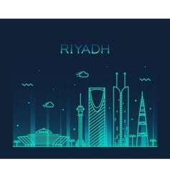 Riyadh skyline trendy linear vector