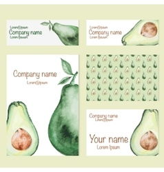 Set of business card vector image vector image