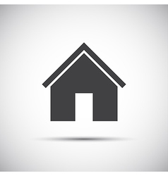 Simple home icon for your web design vector image vector image
