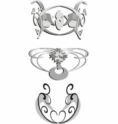 tattoo elements vector image vector image