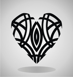 Tribal Heart Tattoo vector image vector image
