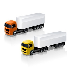 trucks icons set vector image vector image