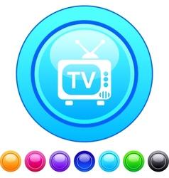 TV circle button vector image
