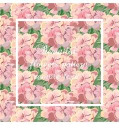 Vintage card with watercolor geranium vector