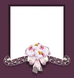 Wedding frame and ribbon vector image