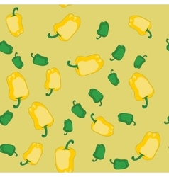 Yellow and green pepper seamless texture 606 vector image