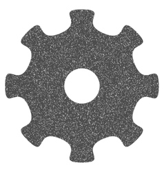 Gear grainy texture icon vector