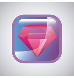 Square with diamond icon vector