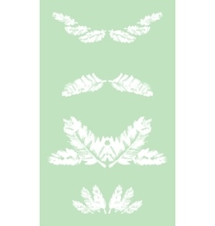 Collection of frames and borders of snowy pine vector
