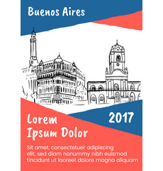sketch of plaza de mayo vector image