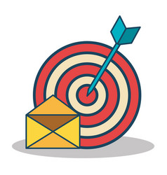 Target with arrow isolated icon vector