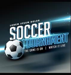 stylish sports flyer poster design for soccer vector image