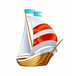 Sailing icons art symbol vector