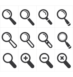 Icon search and magnifier vector