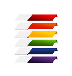 Blank infographics colorful rainbow paper stripe vector