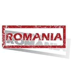 Romania outlined stamp vector