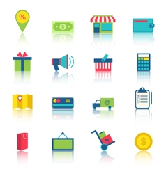 E-commerce shopping symbo vector