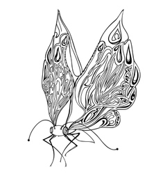 Decorative insect butterfly vector
