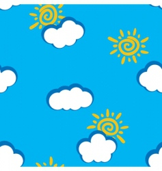 abstract day clouds background seamless vector image
