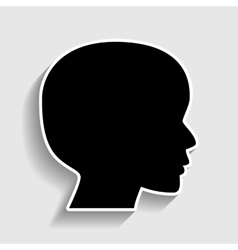 Human head sign vector