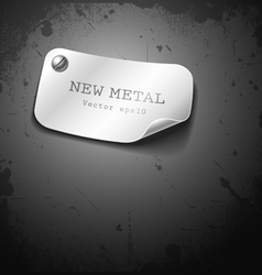 New metal stainless design on grunge background vector