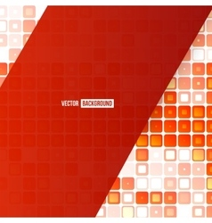 Abstract geometric shape from red vector image