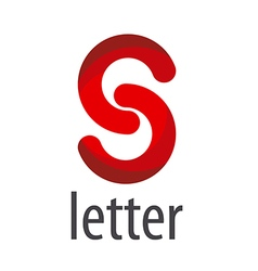 Abstract red logo letter S vector image vector image