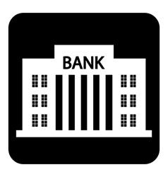 Bank symbol button vector