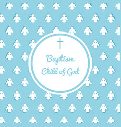 Baptism invitation template vector