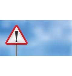 Blue sky warning sign vector