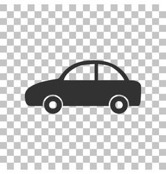 Car sign dark gray icon on vector