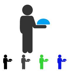 Child waiter flat icon vector
