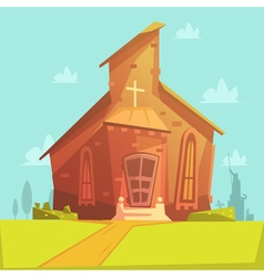 Church cartoon background vector