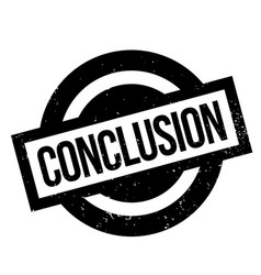 Conclusion rubber stamp vector