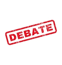 Debate text rubber stamp vector