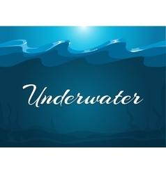Deep blue moody underwater background vector