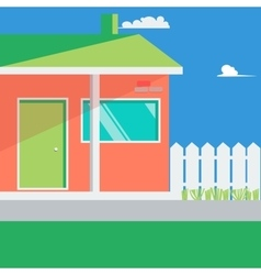 Family house landscape vector