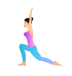 female yoga vector image vector image