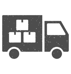 Goods transportation car icon rubber stamp vector