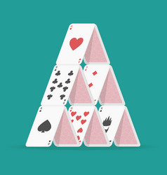 house of cards vector image vector image