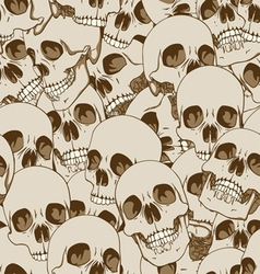 human skulls seamless background vector image vector image