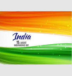 Indian independence day background with waves vector