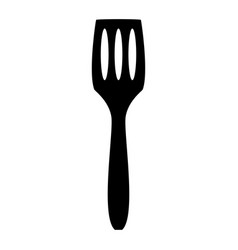 Kitchen spatula the black color icon vector
