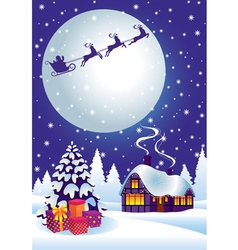 magic christmas eve vector image vector image
