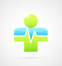 Medical cross like human body vector image