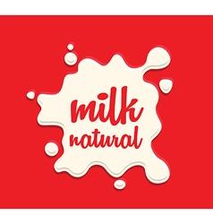Milk splodge red background vector