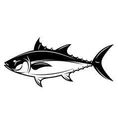 Monochrome with tuna for menu vector